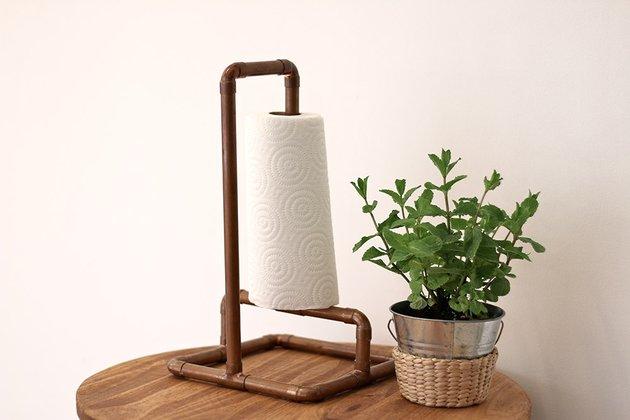 Tuto: un porte essuie-tout avec des tubes en cuivre 8