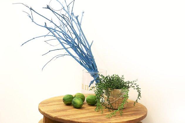 Tuto: un joli décor avec des branches d?arbre peintes 4