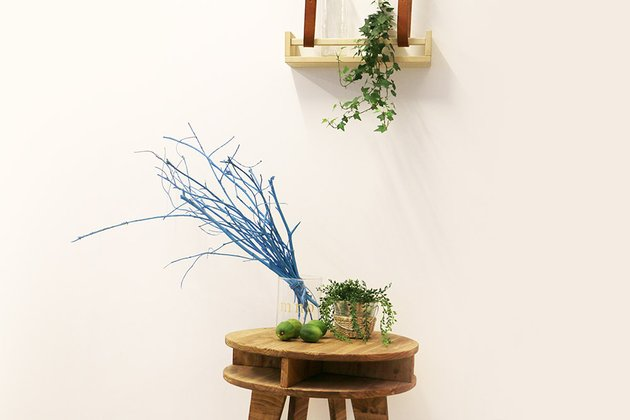 Tuto: un joli décor avec des branches d?arbre peintes 5