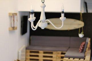 Tuto: un lustre ancien métamorphosé avec de la corde