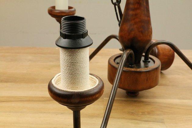 Tuto: un lustre ancien métamorphosé avec de la corde 2