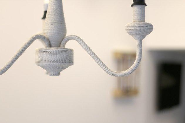 Tuto: un lustre ancien métamorphosé avec de la corde 4